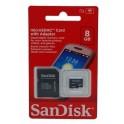 CARTAO DE MEMORIA MICRO SD 8 GB C/ADAPTADOR SANDISK